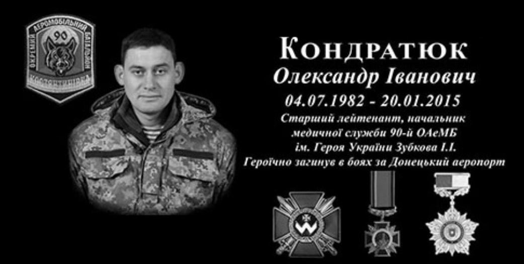 Шість років пам'яті «кіборга» Олександра Кондратюка